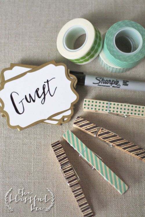 mollette bucato washi tape