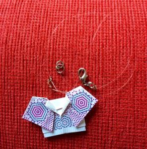 collana kimono origami