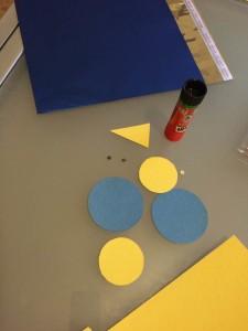 materiale per il pacchetto a forma di gufo