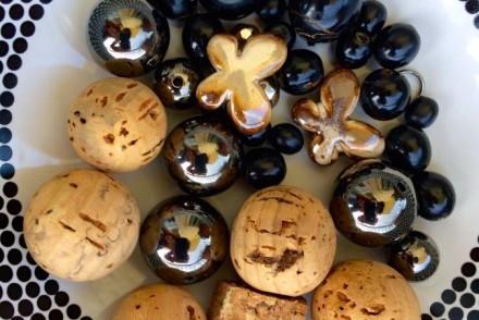 perle di sughero e ceramica