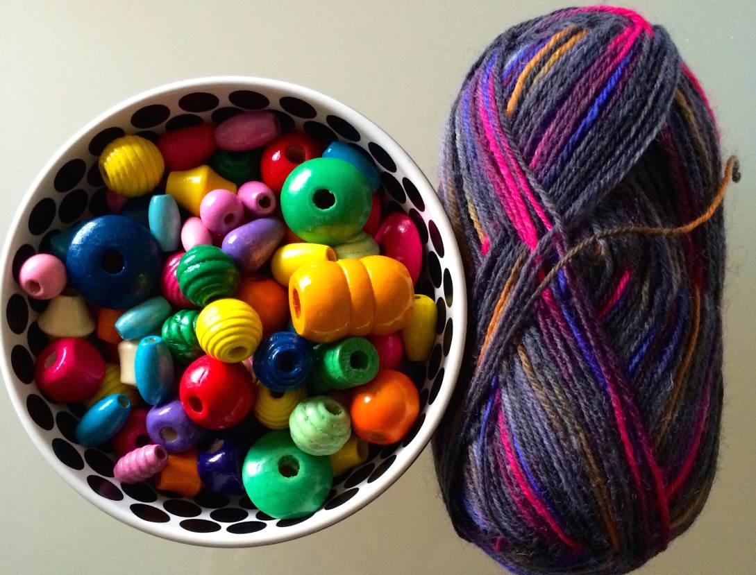 perline legno e lana