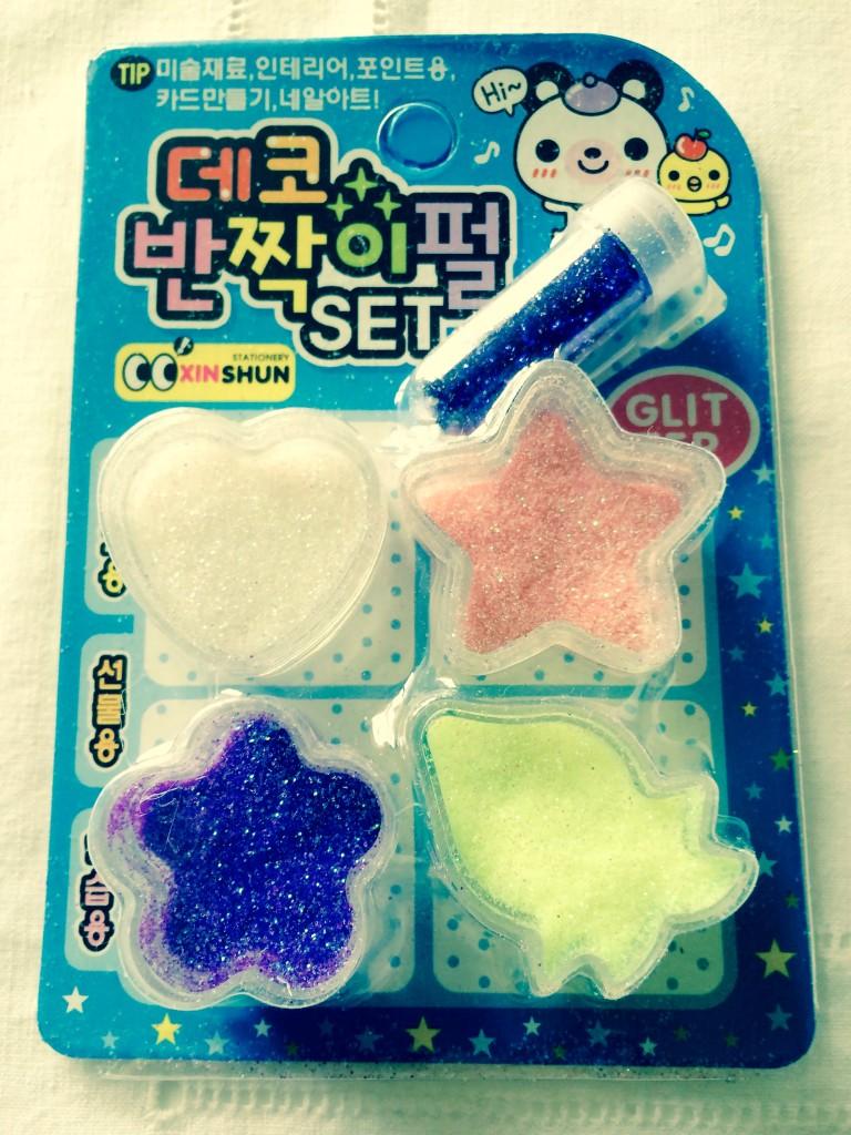 glitter colorato kawaii