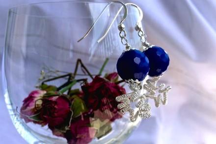 orecchini blu facili wire