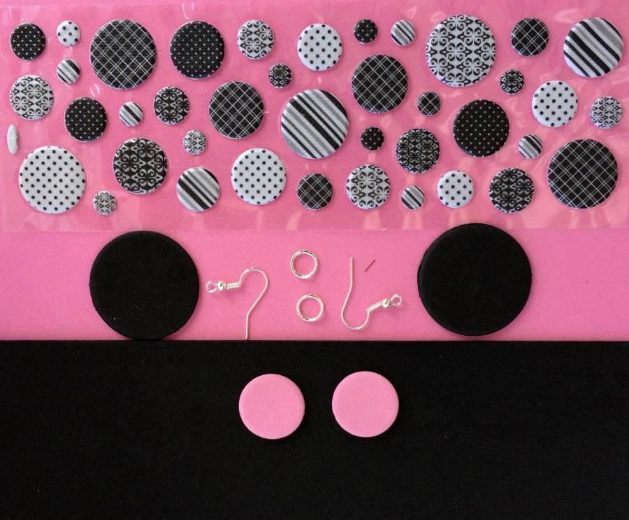 materiali per realizzare gli orecchini di gomma crepla