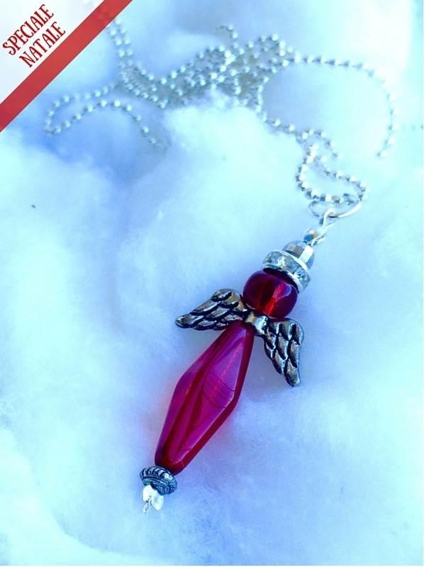 ciondolo di Natale con angioletto di bijoux e dintorni