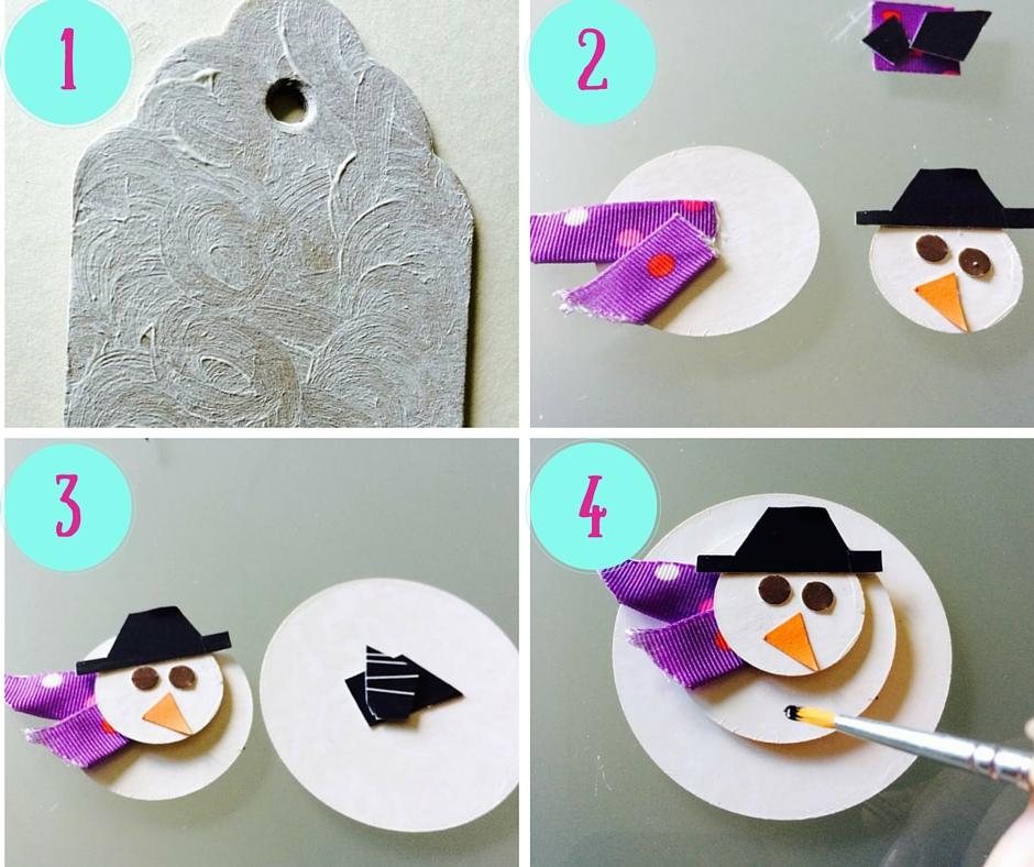 come fare il chiudipacco pupazzo di neve