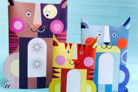 gatti di carta colorati, bijoux e dintorni