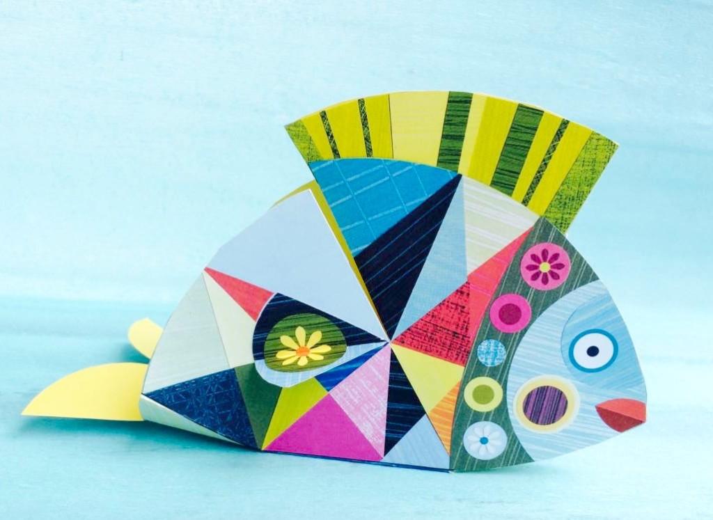 pesce di carta realizzato da bijoux e dintorni