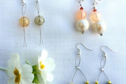 tutorial orecchini con vetro di Murano
