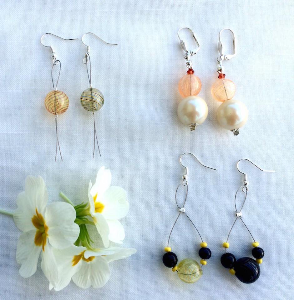abbastanza orecchini fai da te con perle di vetro soffiato e cavettoBijoux e  AF34