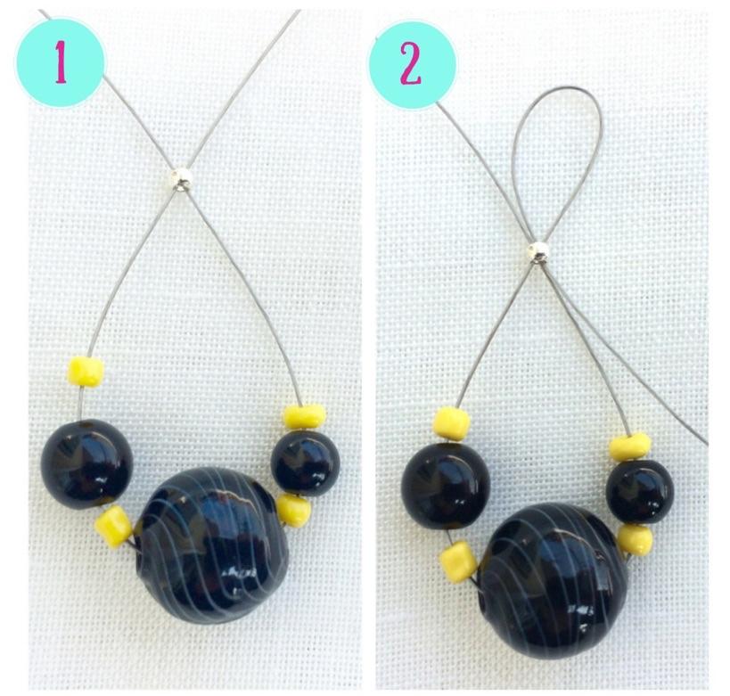 come si fanno gli orecchini con vetro e cavetto metallico