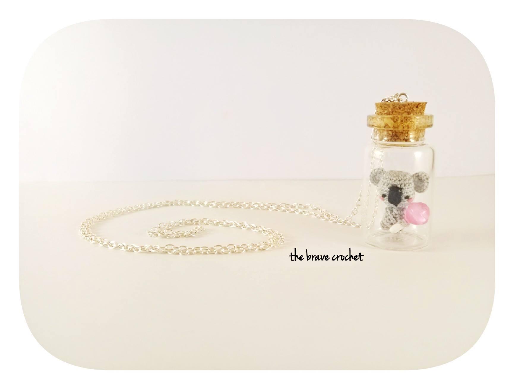 amigurumi crochet: bijoux in bottiglia