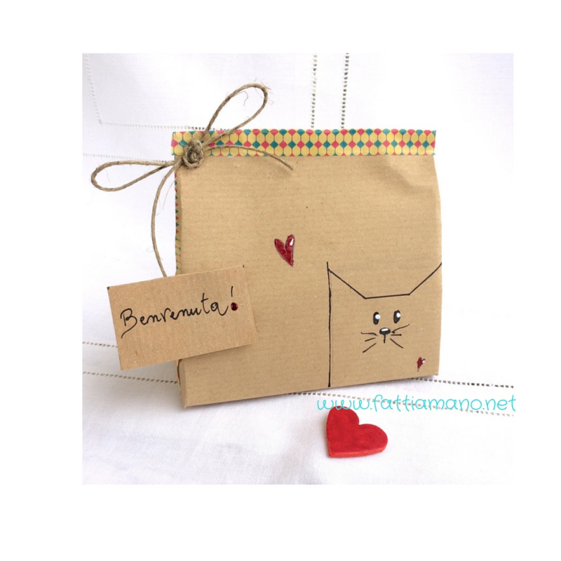 Super pacchetto regalo fai da te con gattino kawaii - Bijoux e  LY88