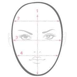 come identificare la forma giusta del viso