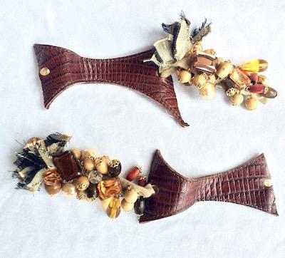 collana crochet con perline di recupero