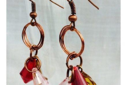 come fare orecchini facili col filo di rame