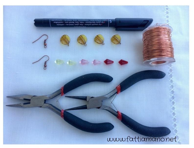 orecchini con il filo di rame: cosa serve