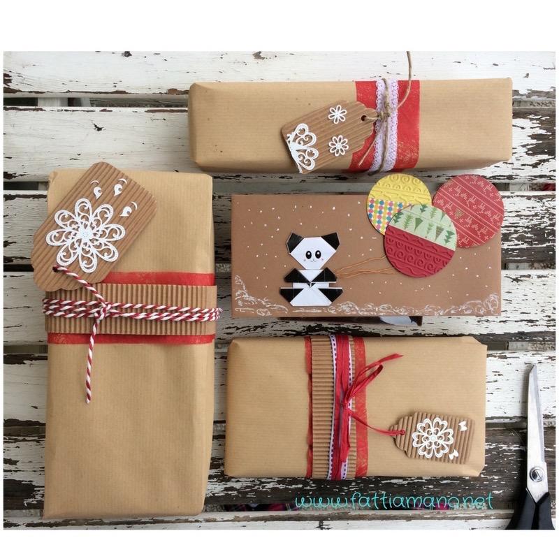 pacchetti di natale: idee con la carta da pacco