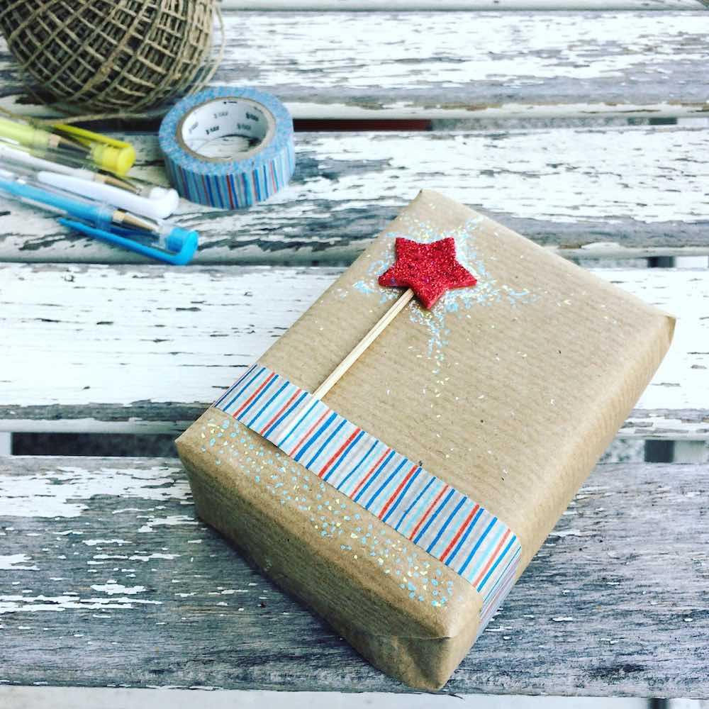 pacchetto fai da te con masking tape e bacchetta magica