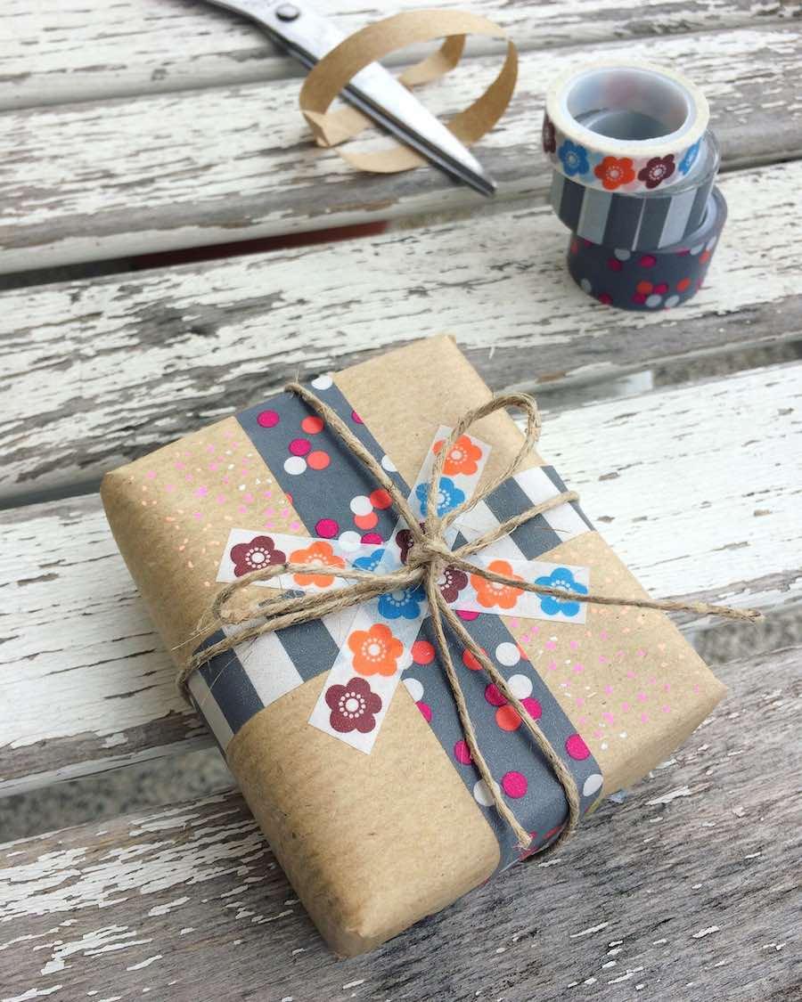 come usare il washi tape pacchetti regalo per il