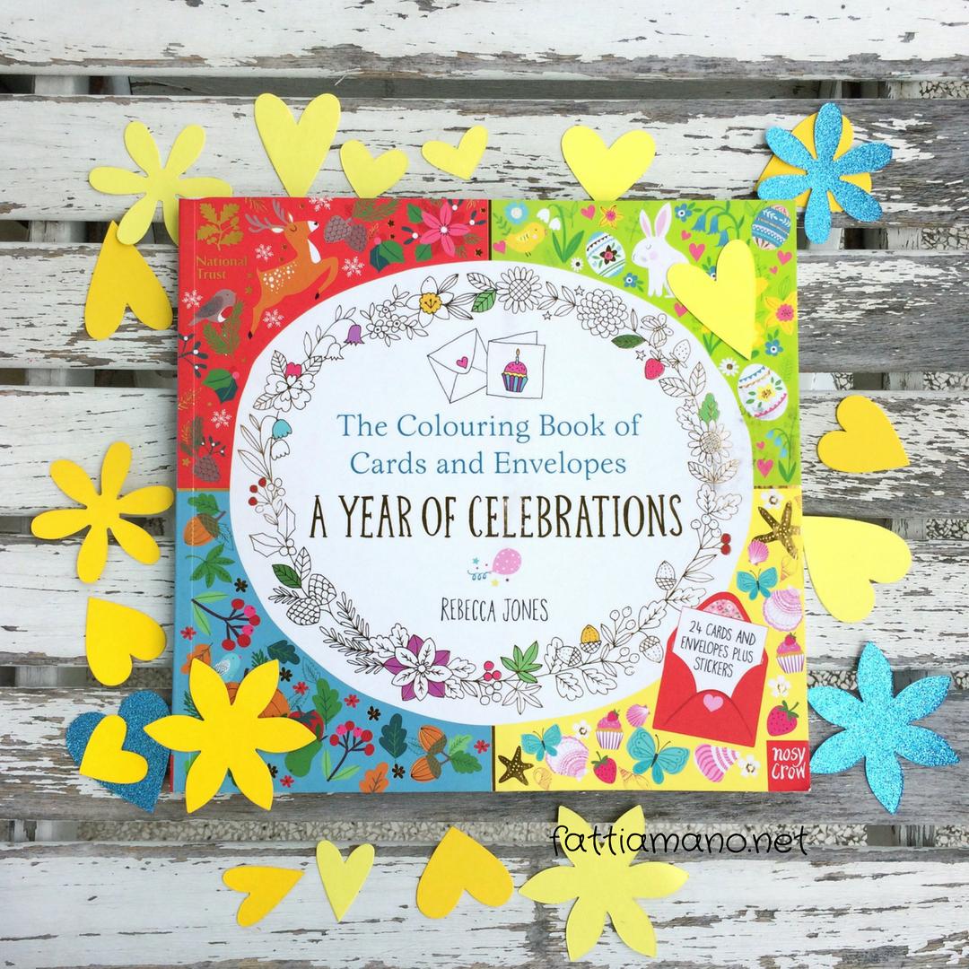 copertina libro biglietti d'auguri da colorare di Rebecca Jones