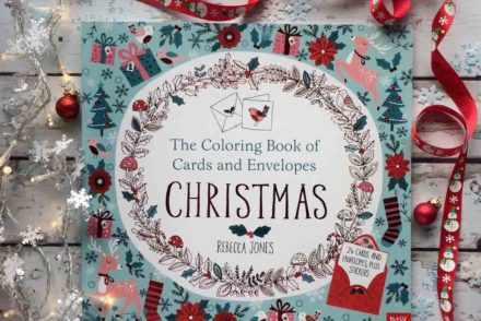 libro con biglietti natalizi da colorare