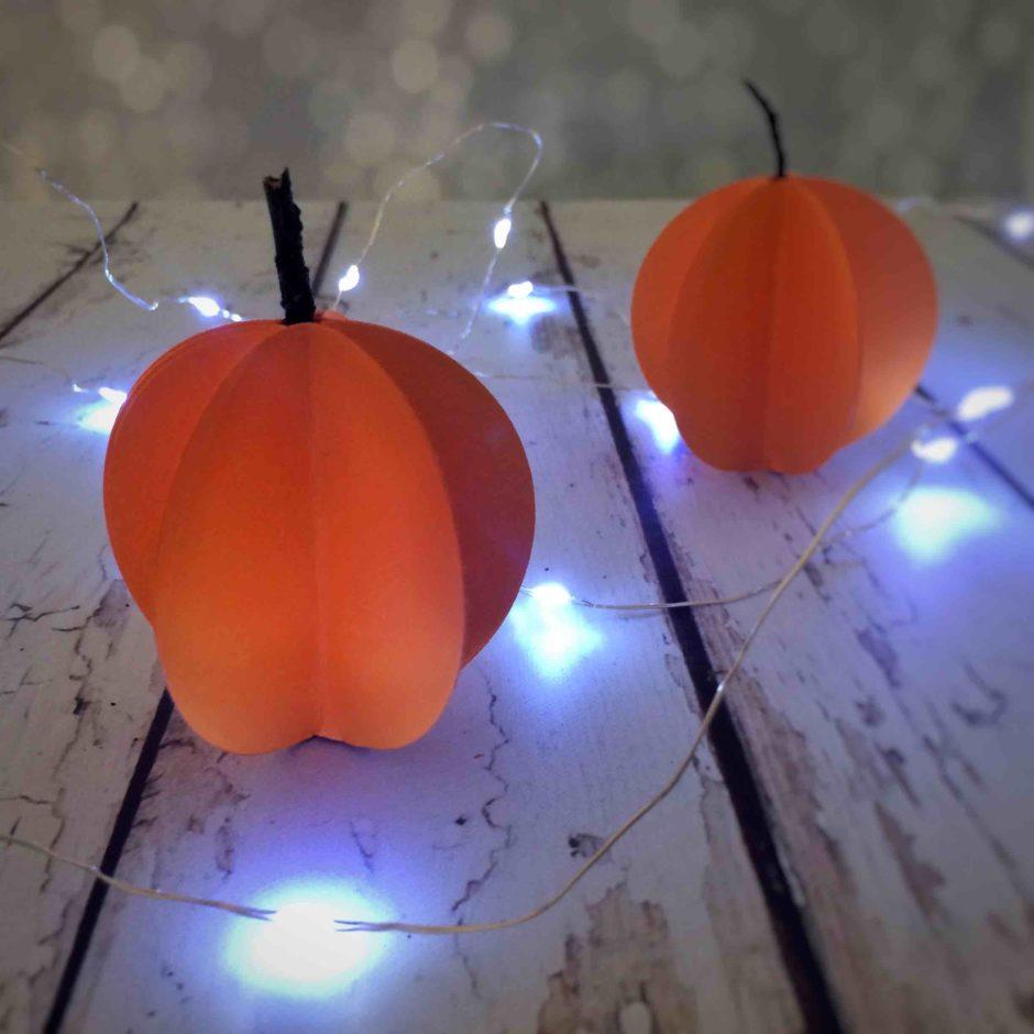 halloween fai da te: tutorial delle zucche di carta