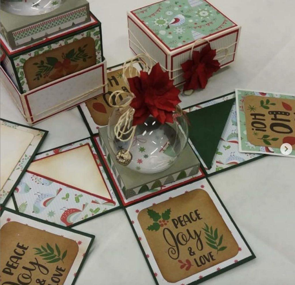explosion box per Natale
